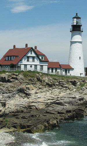 Maine Corporate Housing- view of lighthouse in Maine