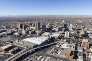Albuquerque New Mexico Downtown Aerial